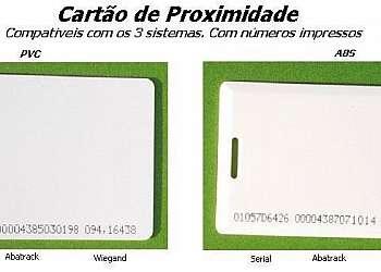 Cartão de proximidade valor