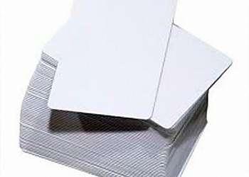 Cartão de pvc branco para impressão
