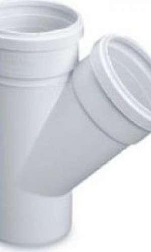 Conexões de esgoto PVC branco