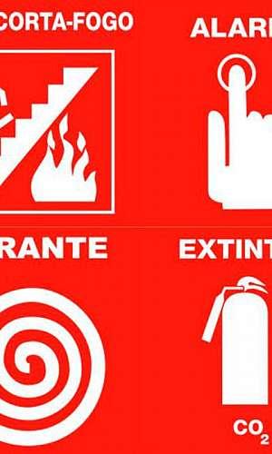 Sistemas de sinalização de segurança contra incêndio e pânico
